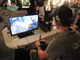Me playing Halo 4 at Pax Prime 2012.