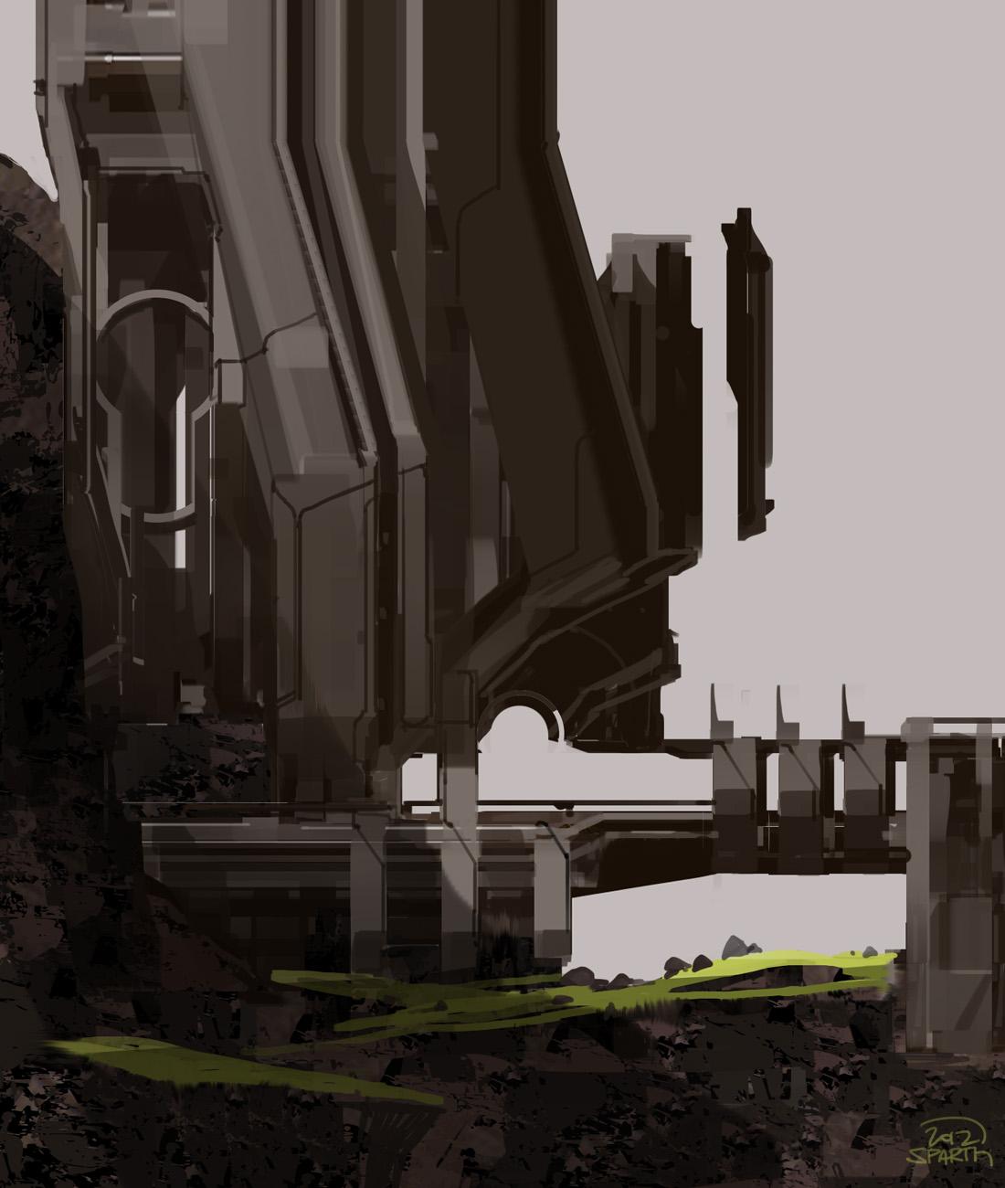 Halo 4 DLC Concept Art! A Hybrid Map of Narrows/Construct