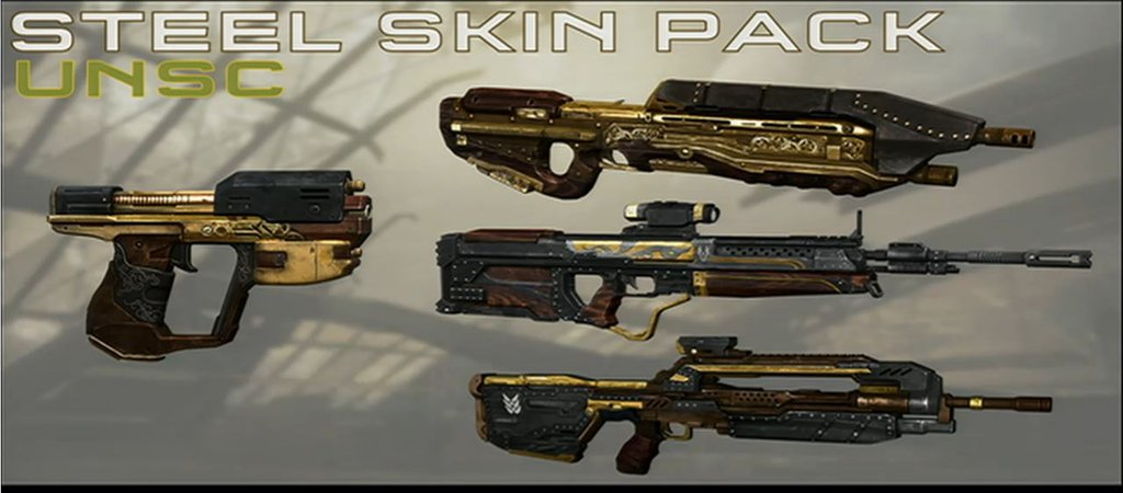 Halo 4 Steel Skin Pack Chief Canuck Video Game News