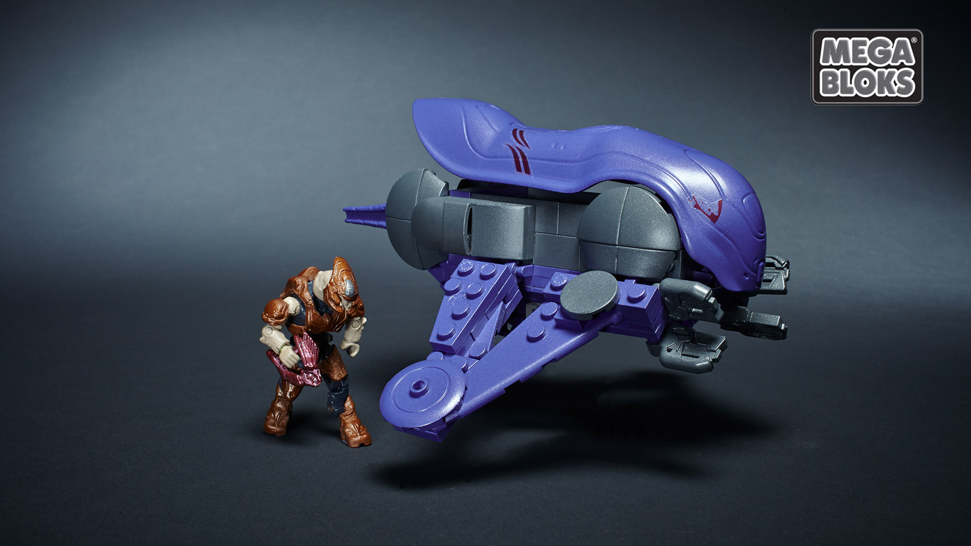 Halo Mega Bloks Covenant Banshee Playset