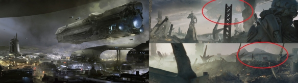 Halo 5 Guardians Concept Art Comparison