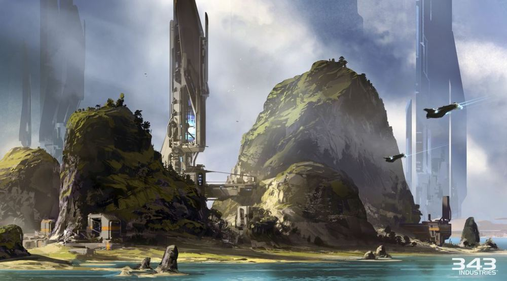 Halo 5: Guardians Raid oo Apex 7 Concept Art