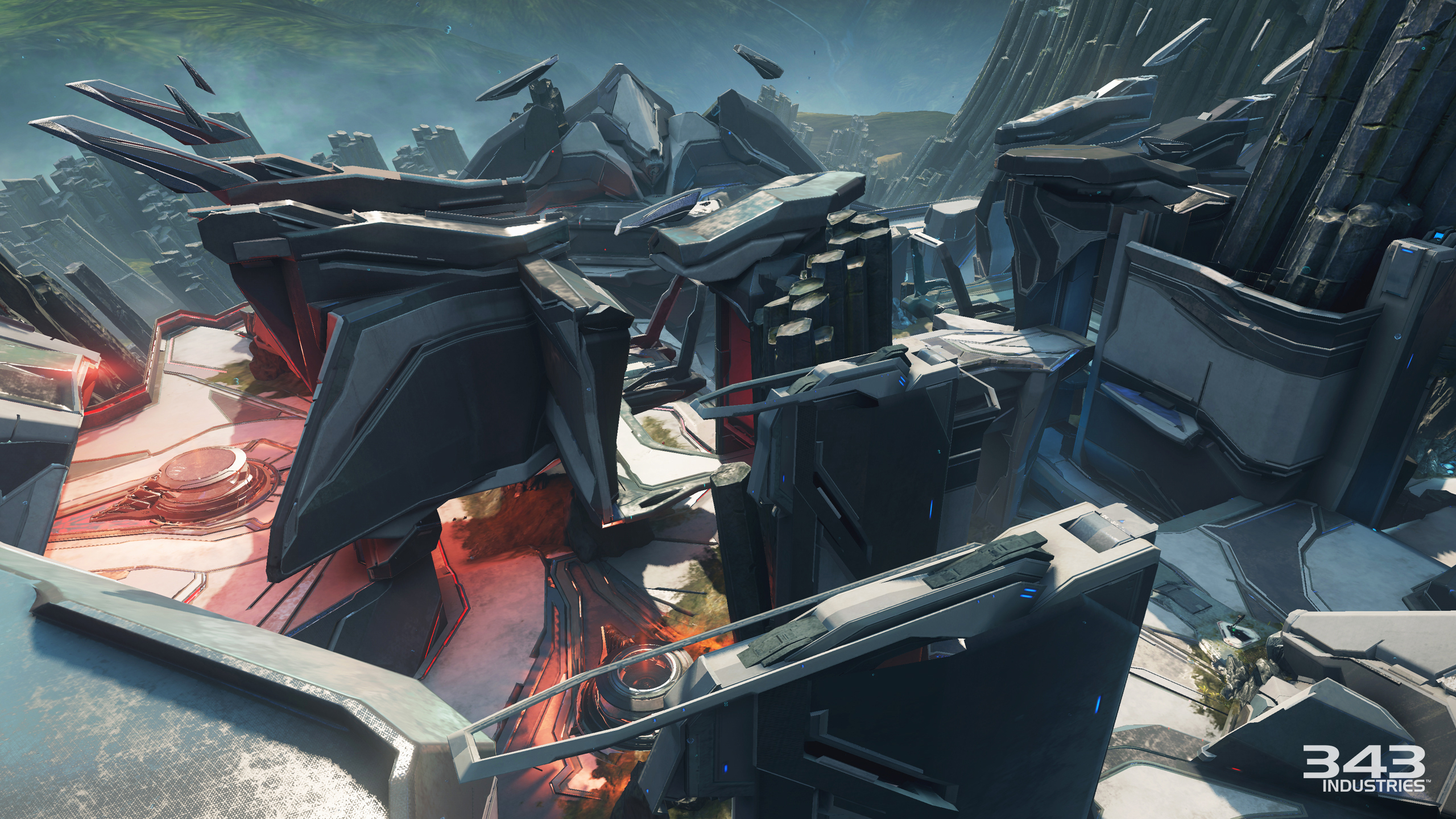 new halo 5 guardians arena and warzone maps revealed chief