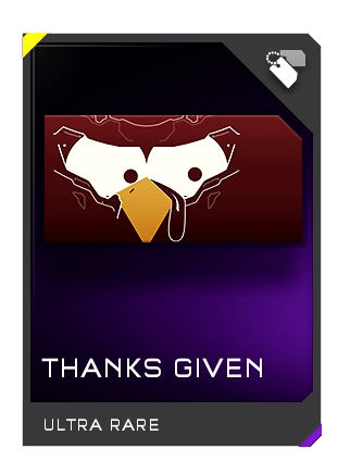 Halo 5 Guardians Thanks Given Ultra Rare Emblem