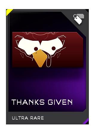 Halo 5 Guardians Thanks Given Ultra Rare Emblem