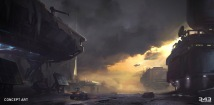 Halo 5 Guardians Skirmish at Darkstar Concept Art